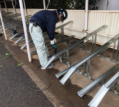 T高等学校駐輪場設置工事【千葉県船橋市】