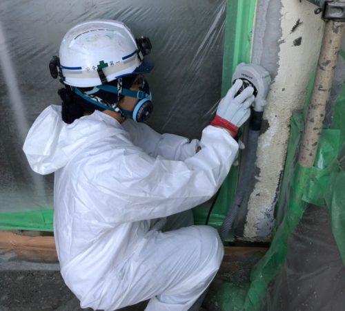 T中学校外壁アスベスト撤去工事【千葉県船橋市】