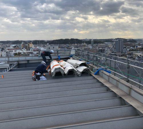 台風被害屋根部現状回復工事【三鈴 姉ヶ崎倉庫】