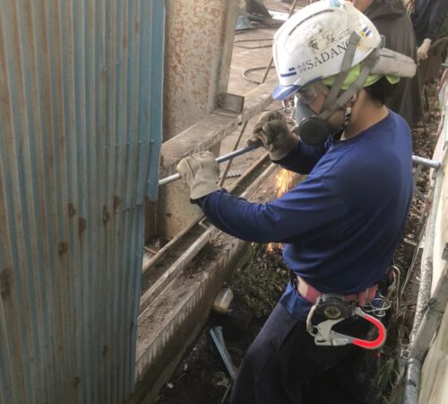 加須市内倉庫外壁改修工事【埼玉県加須市】